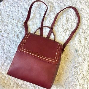 Handbags - the cutest burgundy studded backpack